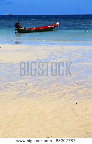 Asia In The  Kho Tao Bay   White  Beach     South China Sea Anchor