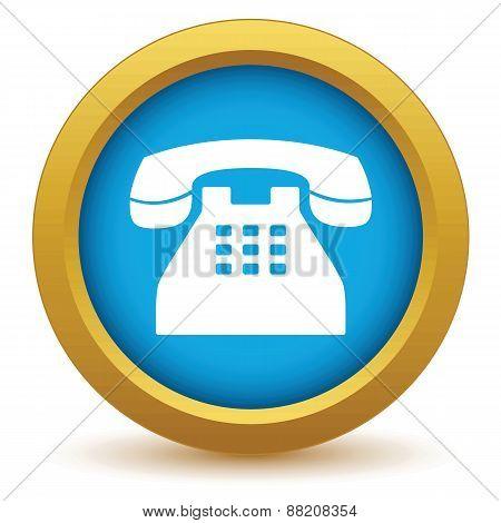 Gold Telephone icon