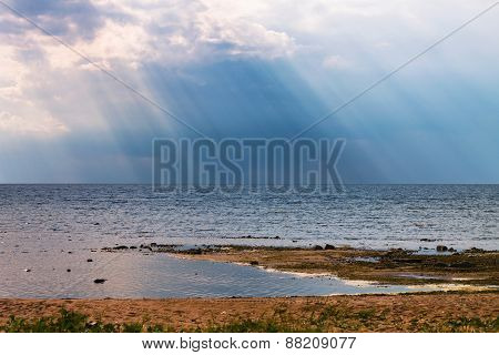 Rays over the lake