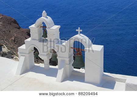 The Bells On Santorini, Greece