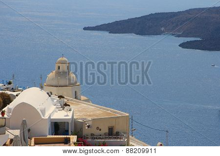 Volcano On The Island Of Santorini, Greece