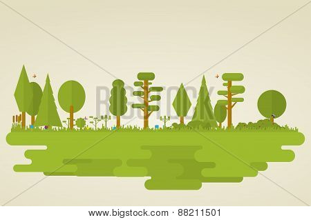 Flat Nature Forest