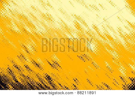 Ochre Drips Texture Pattern As Abstract Background.