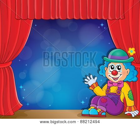 Sitting clown theme image 3 - eps10 vector illustration.