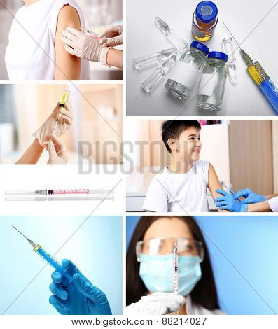 Vaccination collage