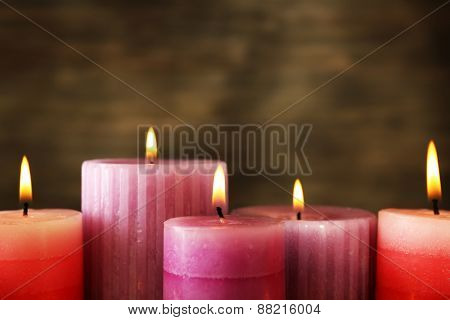 Many candles close up