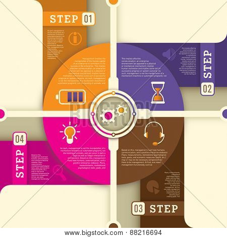 Info graphic background design in color. Vector illustration.
