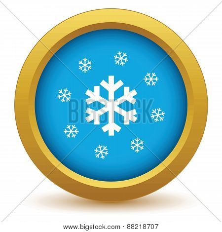 Gold snow icon