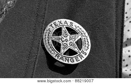 Texas Ranger Badge.