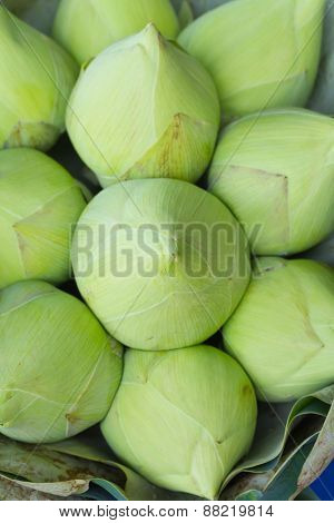 Bunch Of Bawtom Lotus For Buddhist Worshiping Buddha Statue