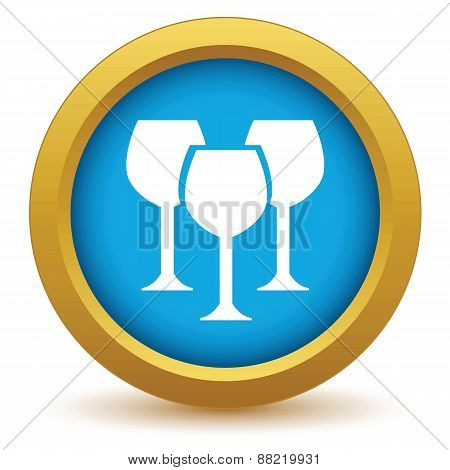Gold stemware icon