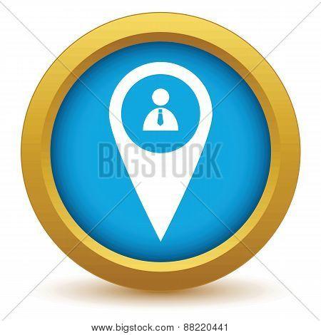 Gold man pointer icon