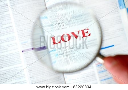 Magnifying Love Word