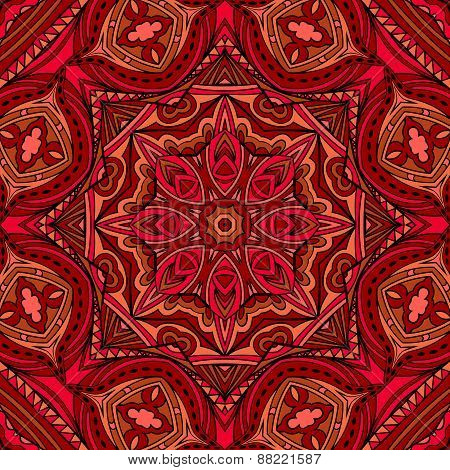 Bright Ethnic Indian Seamless Pattern