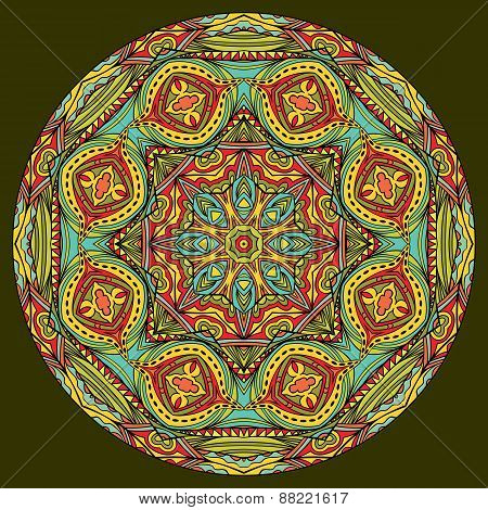 Mandala In Oriental Style