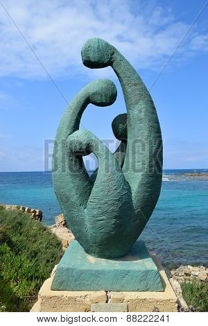 Modern Sculpture In Caesarea Maritima, Israel
