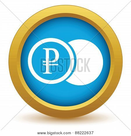 Gold rouble coin icon