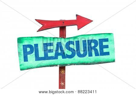 Pleasure sign isolated on white