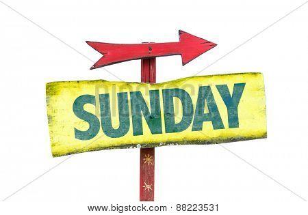Sunday sign isolated on white