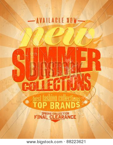 New summer fashion collections retro design. Eps10