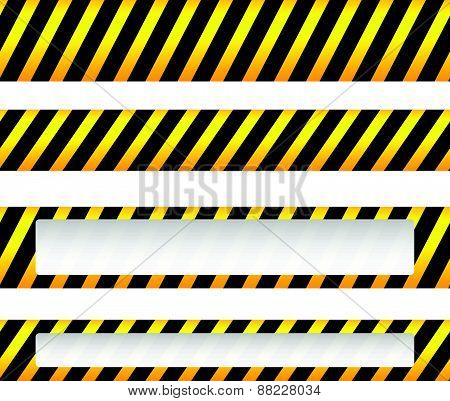 Repeatable Yellow Tapes, Bands, Strips. Vector, Editable. (can Be Repeated Horizontally)