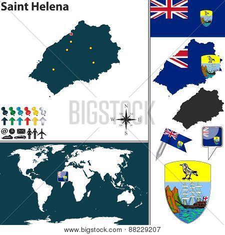 Map Of Saint Helena Island