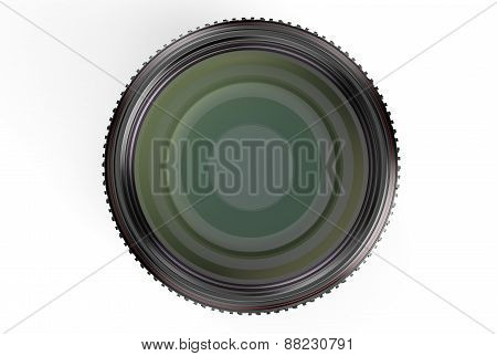 Photography Camera Lens, Front View