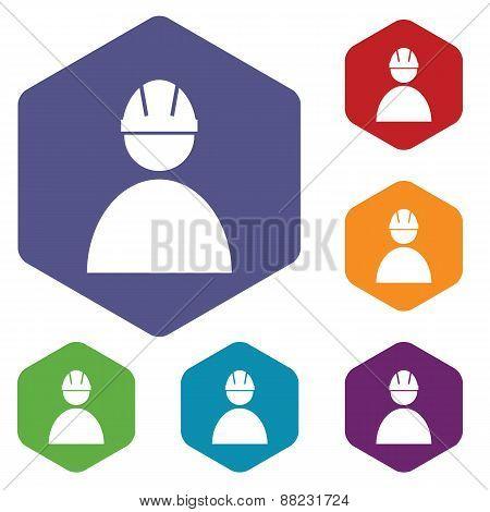 Working rhombus icons