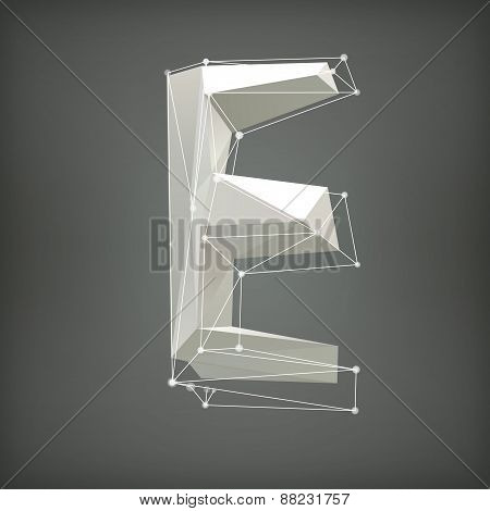 Low poly alphabet. Vector illustration. letter