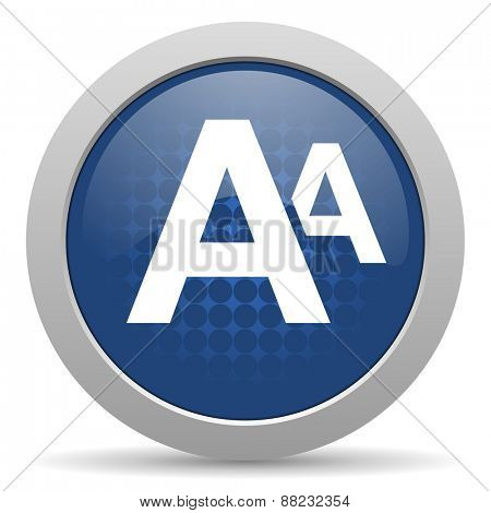 alphabet blue glossy web icon