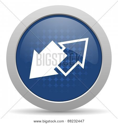 exchange blue glossy web icon