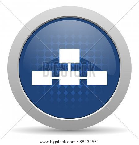 database blue glossy web icon