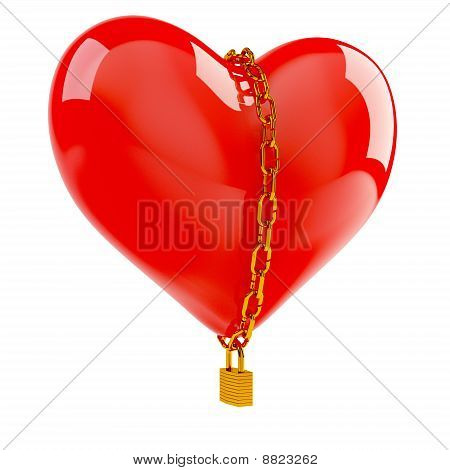 Heart In Gold Chain