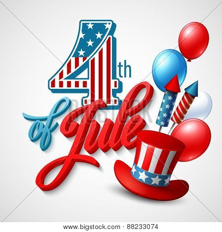 American Independence Day. Festive vector illustration