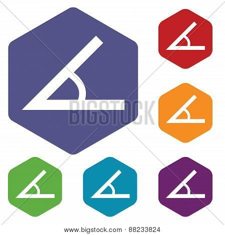 Sign of the angle rhombus icons