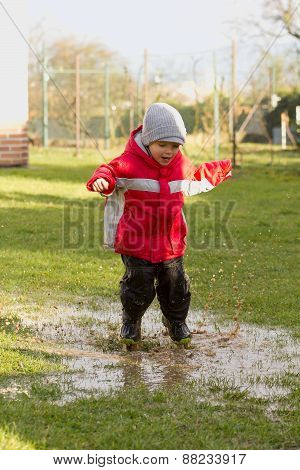 Boy In The Puddle.