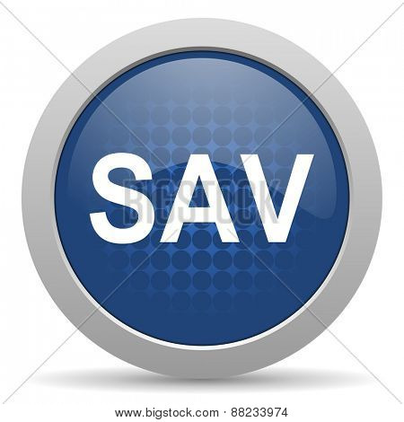 sav blue glossy web icon