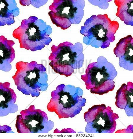 Watercolor Seamless Pattern.