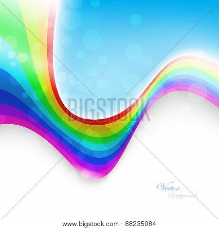 Abstract Rainbow Background. Vector Illustration