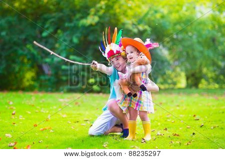 Kids Playing Cowboy