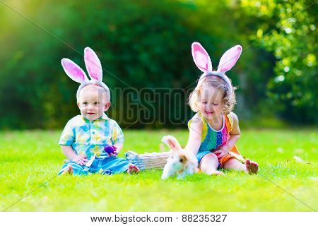Children At Easter Egg Hunt