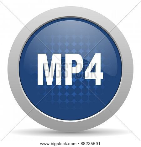 mp4 blue glossy web icon