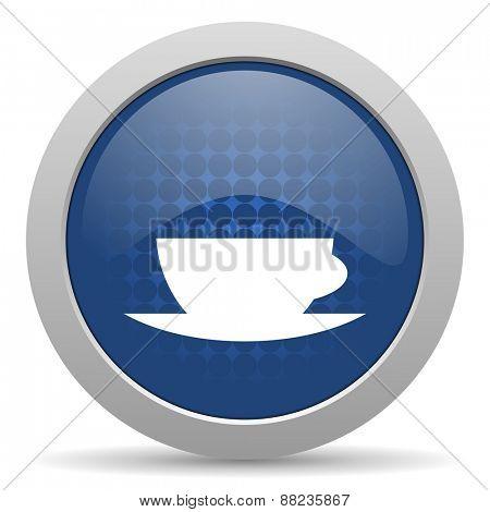 espresso blue glossy web icon