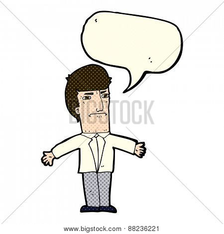 cartoon annoyed boss with speech bubble