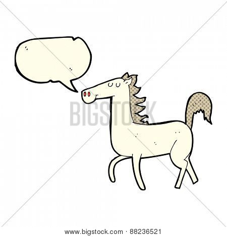 cartoon horse with speech bubble