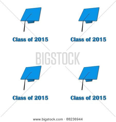 Class of Blue on Wht Lg Pat