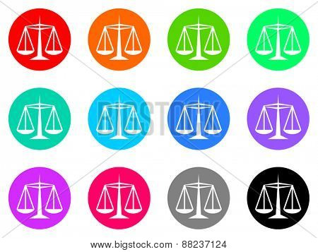justice vector icons set
