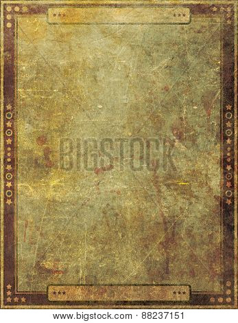 Ancient Antique Grunge Paper Frame Page Graphic Design