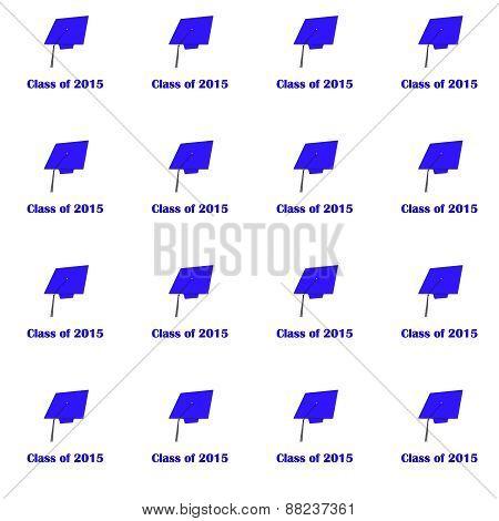 Class of 2015 Purple on Wt Med pattern
