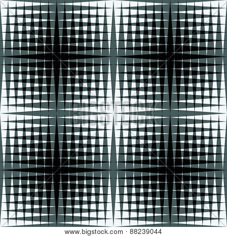 Overlapping Triangles Seamless Patterns. Editable Vector Background. Black And White Abstract Graphi